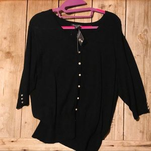 Audrey & Grace Black Sweater